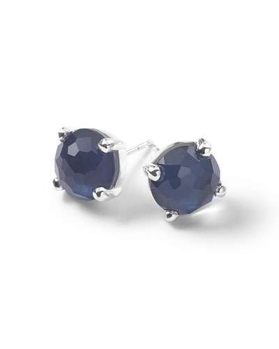 925 Wonderland Mini Stud Earrings in Midnight