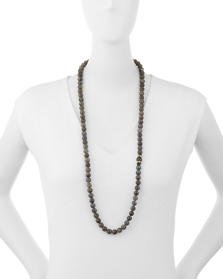 """Old World Tahitian Pearl Necklace with Diamonds, 36""""L"""