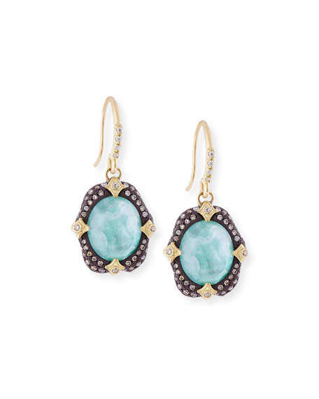 Armenta Old World Midnight Oval Crivelli Earrings with