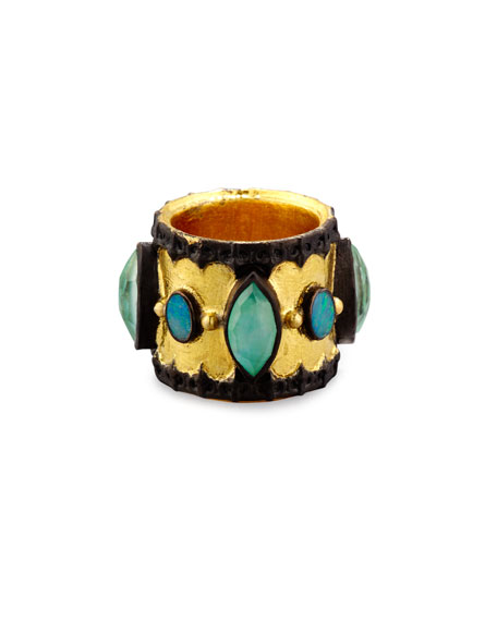 Armenta Old World Midnight Scalloped Cigar Ring with