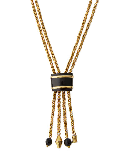 Msanii Long Bronze Tassel Necklace