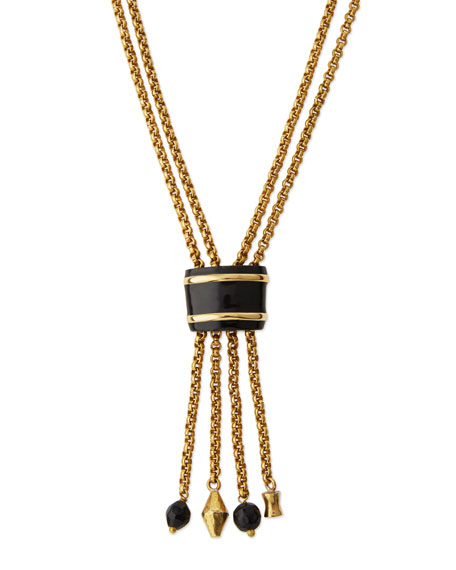 Msanii Long Bronze Tassel Necklace