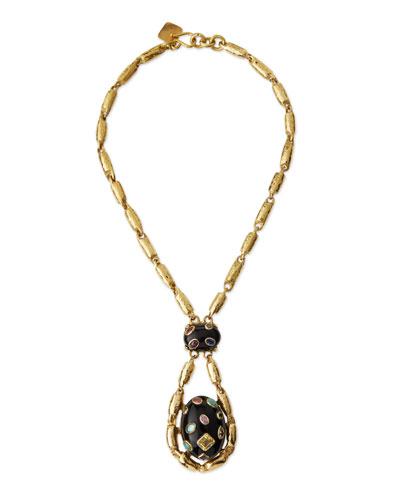 Utamaduni Bronze Teardrop Pendant Necklace