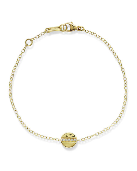 Ippolita 18K Senso Mini Disc Bracelet with Diamonds