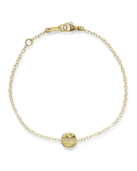 Ippolita 18K Senso Mini Disc Bracelet with Diamonds