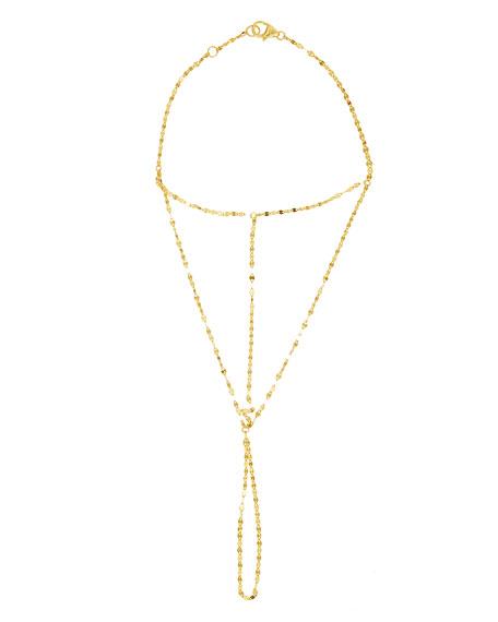 Gloss 14K Hand Lariat Chain Bracelet