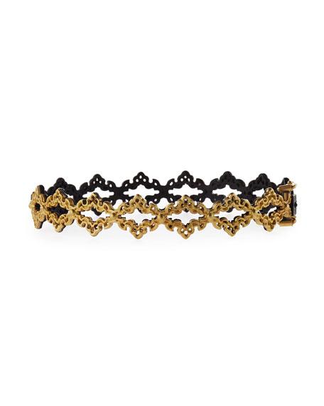 Old World Open Scroll Huggie Bracelet