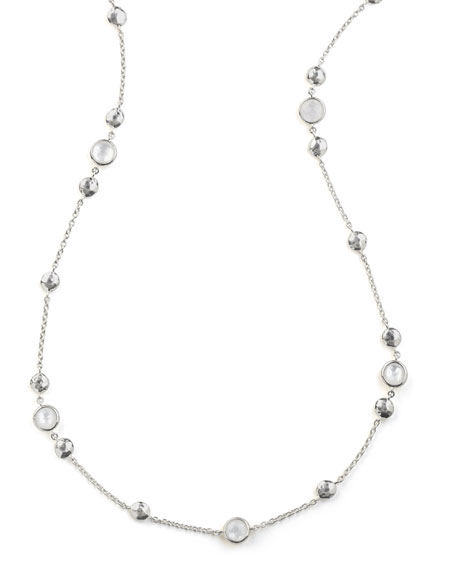 "925 Rock Candy® Medium-Station Necklace in Quartz, 42""L"