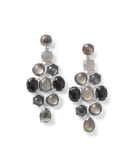 925 Rock Candy Cascade Earrings in Black Tie