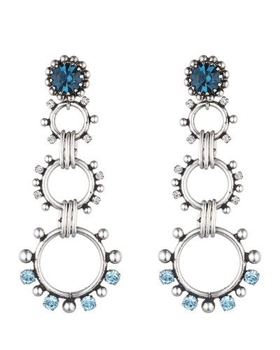 Grayson Crystal Statement Earrings, Blue