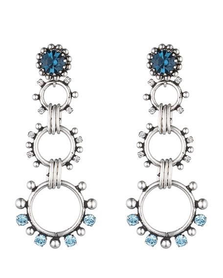 Dannijo Grayson Crystal Statement Earrings, Blue