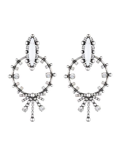 Dannijo Anja Crystal Statement Earrings
