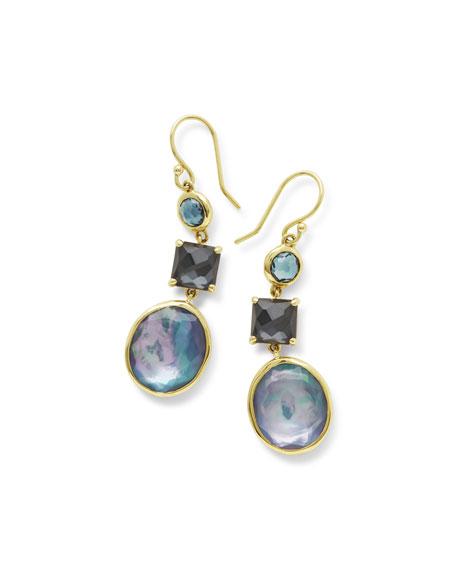 Ippolita 18K Rock Candy 3-Stone Drop Earrings in