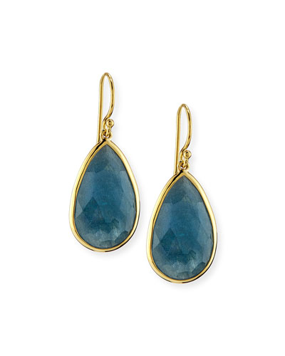 18k Rock Candy Single Teardrop Earrings