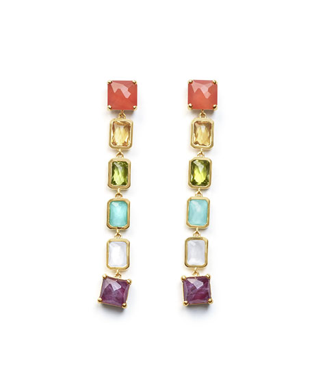 Ippolita 18K Rock Candy Extra-Long 6-Stone Earrings