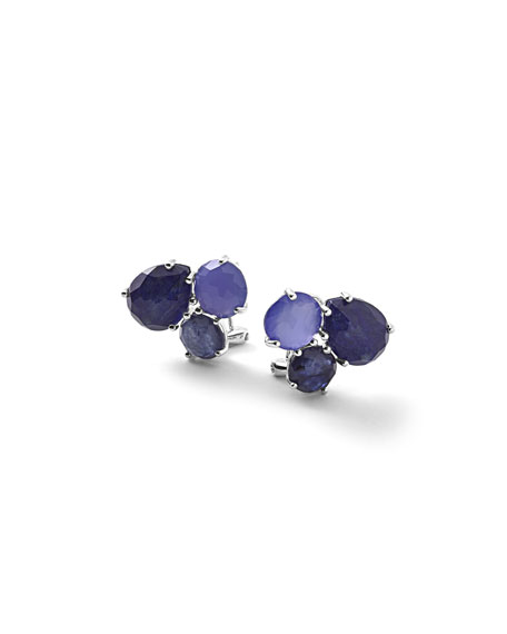 925 Rock Candy Cluster Stud Earrings in Odyssey Blue