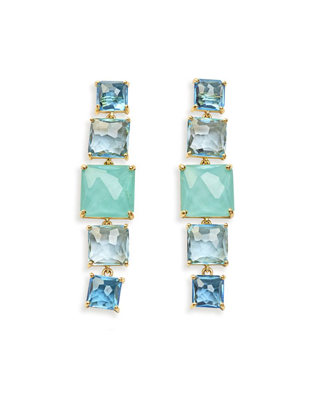 18k Rock Candy 5-Stone Linear Earrings in Waterfall