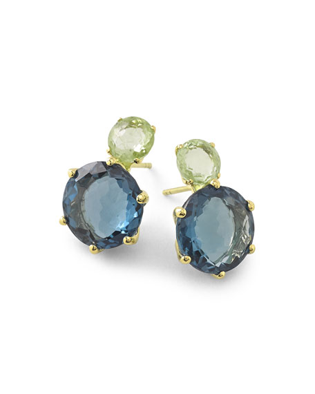 Ippolita 18k Rock Candy 2-Stone Post Earrings