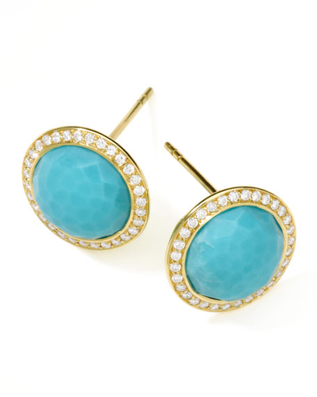 Ippolita 18K Rock Candy Button Earrings with Diamonds