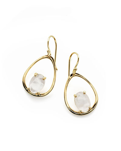 18K Rock Candy Wire Earrings in Mother-of-Pearl