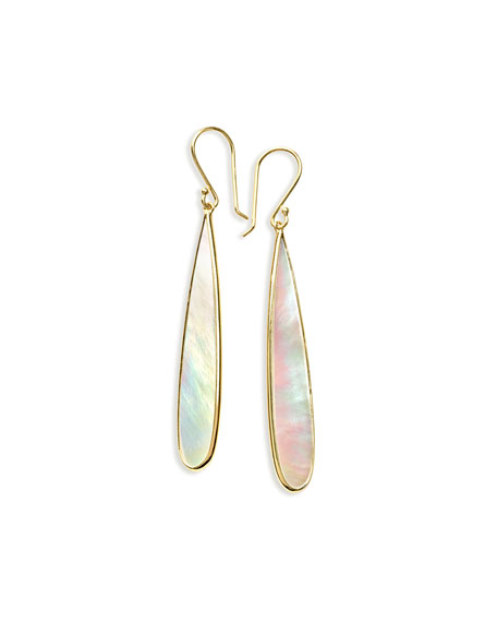 Ippolita 18K Rock Candy Mother-of-Pearl Long Drop Earrings
