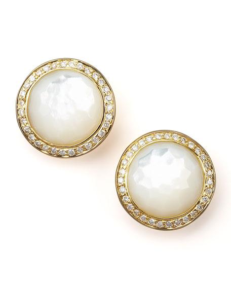 Mother-of-Pearl Diamond Earrings