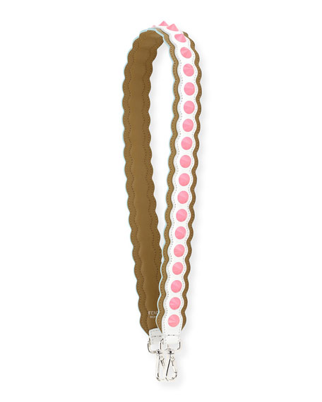 421566256a69 Fendi Strap You Wave Studded Shoulder Strap for Handbag