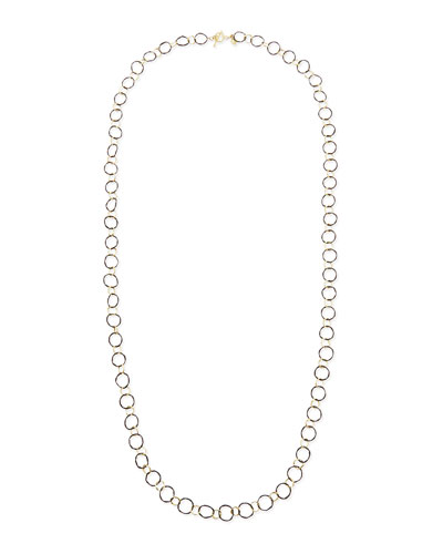 Midnight Silver & 18k Yellow Gold Link Necklace  34