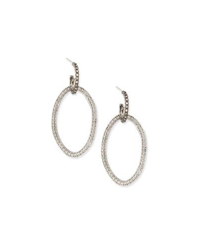 Silver Open-Circle Link Drop Earrings
