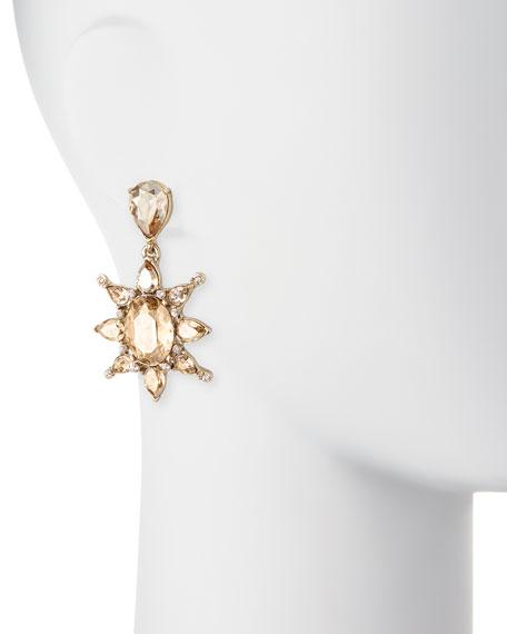 Tropical Bloom Crystal Drop Earrings
