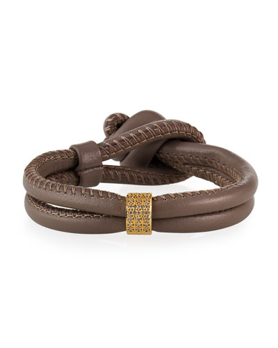 Sea of Beauty Leather Wrap Bracelet