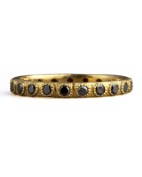 Pave Black Diamond Ring