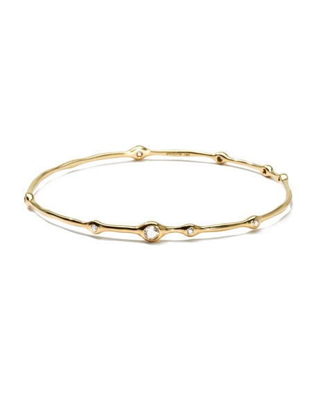 Ippolita 18K Gold 9-Diamond Bangle (0.5ctw)