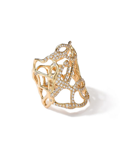 18k Gold Drizzle Ring with Diamonds