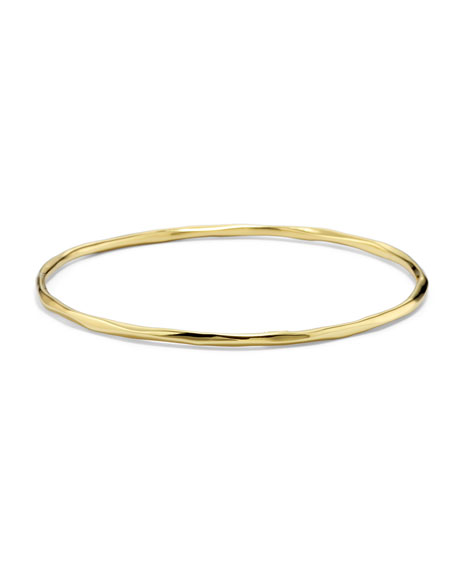 Ippolita 18K Gold Glamazon Thin Faceted Bangle