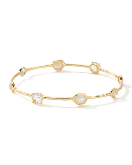 Ippolita 18K Rock Candy 8-Stone Bangle in Flirt