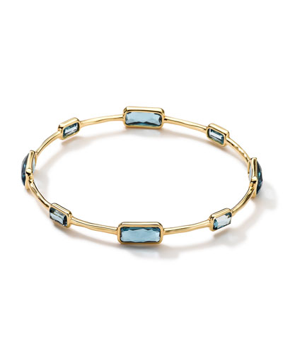 18k Gold Rock Candy Gelato 8-Topaz Bangle