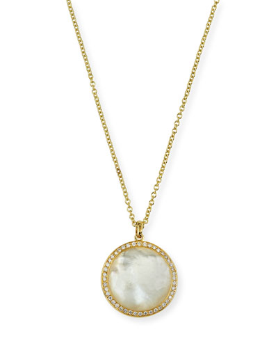 Lollipop Medium Pendant Necklace in 18K Gold with Diamonds