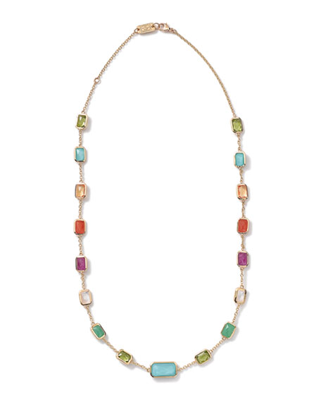 Ippolita 18k Gold Rock Candy Multi-Stone Necklace, 18