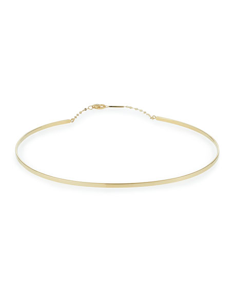 Lana Jewelry Bond Thin 14K Gloss Choker Necklace GgyH3wXn