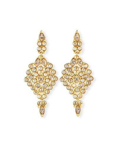 Teardrop Crystal Statement Earrings