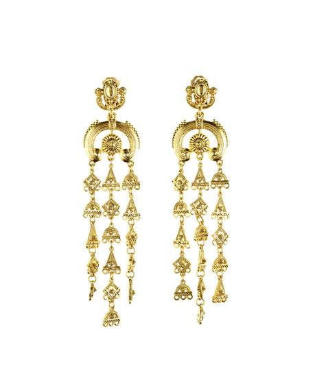 Ornate Tiered Drop Earrings