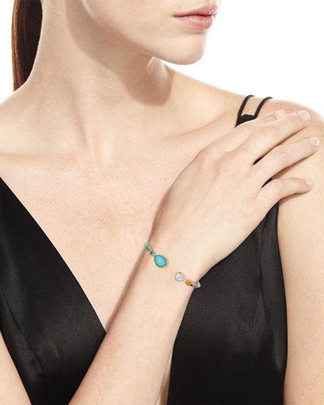 Mixed-Station Bangle Bracelet