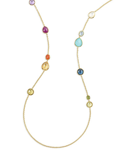 18K Rock Candy® Mixed Stone Long Necklace in Summer Rainbow, 40