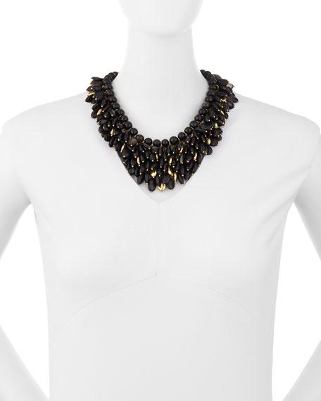 Kalamu Layered Dark Horn Necklace