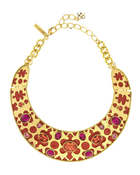 Oscar de la Renta Crystal & Resin Collar