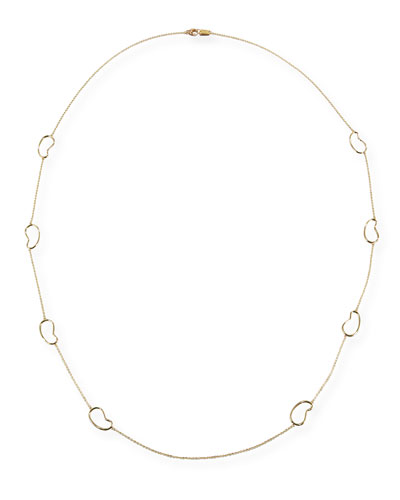 18K Classico Kidney Station Necklace, 41