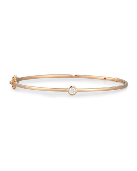 Roberto Coin 18k Rose Gold Diamond Station Bangle