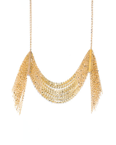 Draping 14K Gold Fringe Necklace