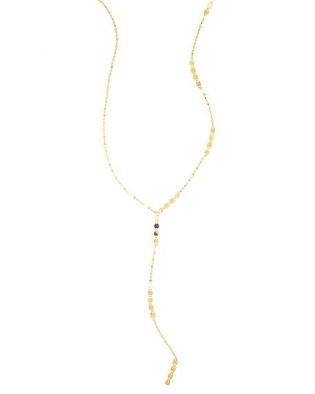 14K Gold Nude Remix Lariat Necklace